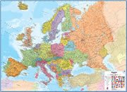 United Kingdom On a Large Wall Map of Europe