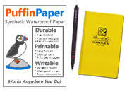 Waterproof Paper and Pens