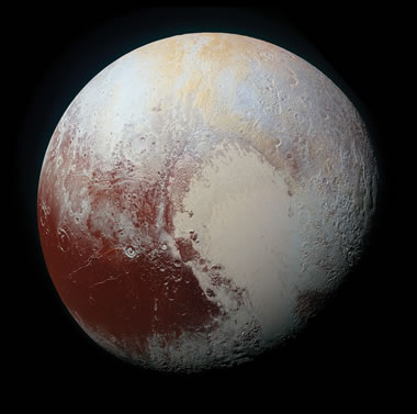 area of potential volcanic activity on Pluto