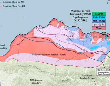 USGS assessment map of the Brookian Shale