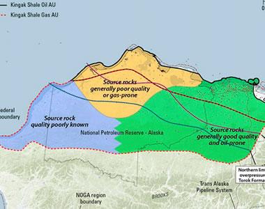 USGS assessment map of the Kingak Shale