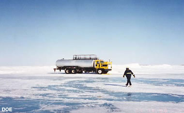 ice road water truck