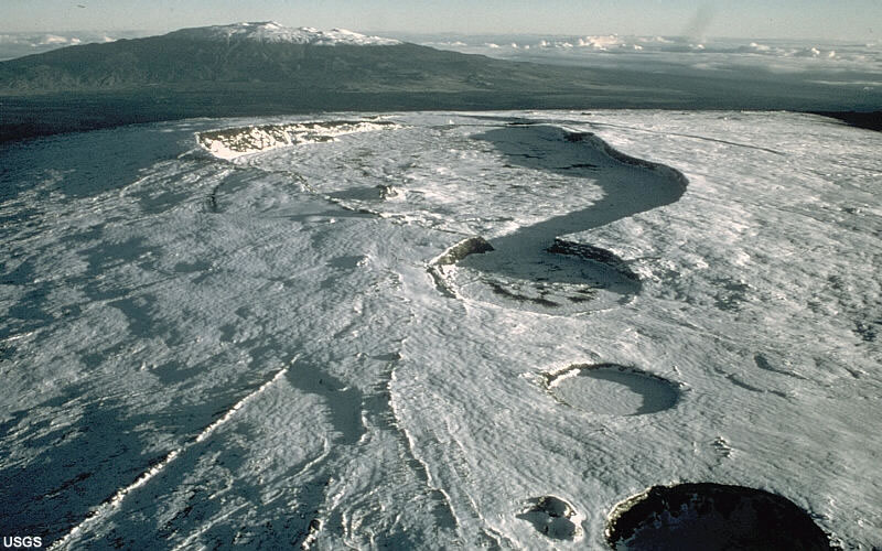 caldera crater formed by volcanic collapse or explosion