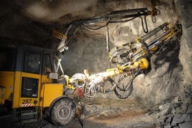 mining underground at Diavik Mine