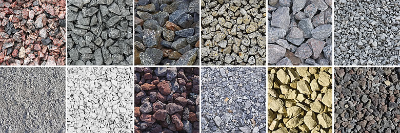 Types Of Gravel : Crushed stone limestone granite traprock