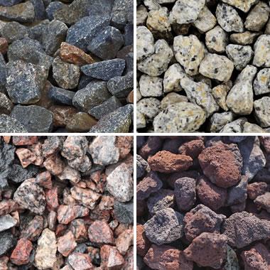Crushed stone limestone granite traprock and more for Black granite landscape rock
