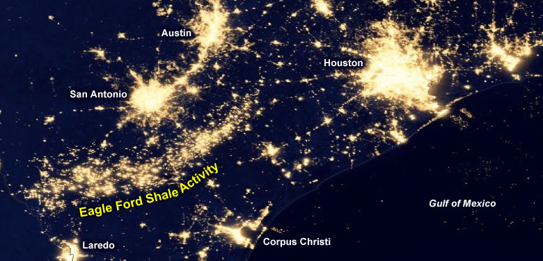 Eagle Ford Shale Oil Gas Resource Surprises Geologists - Map us shale oil fields