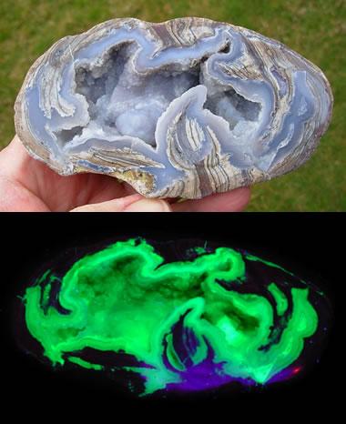 Fluorescent Dugway Geode