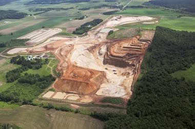 Frac sand mine in Wisconsin