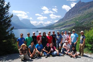 Geology field class, St. Mary Lake