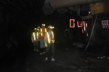 Underground at Stillwater platinum-palladium mine
