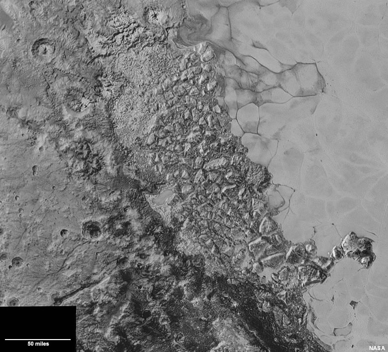 Western edge of Sputnik Planum