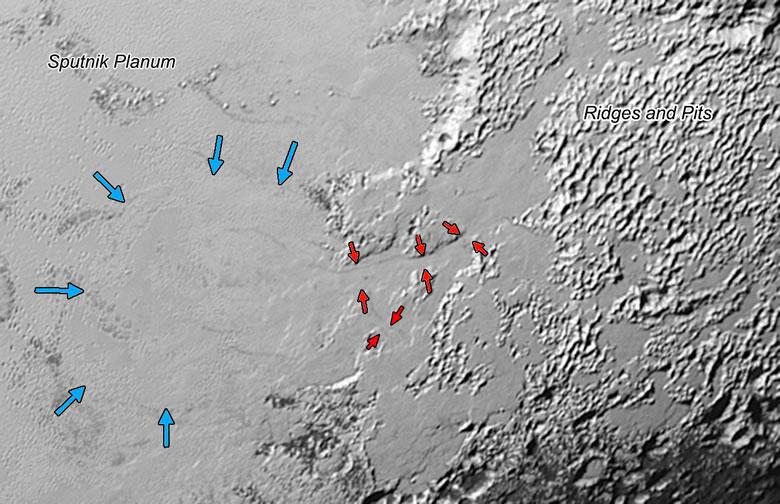glacier on Pluto