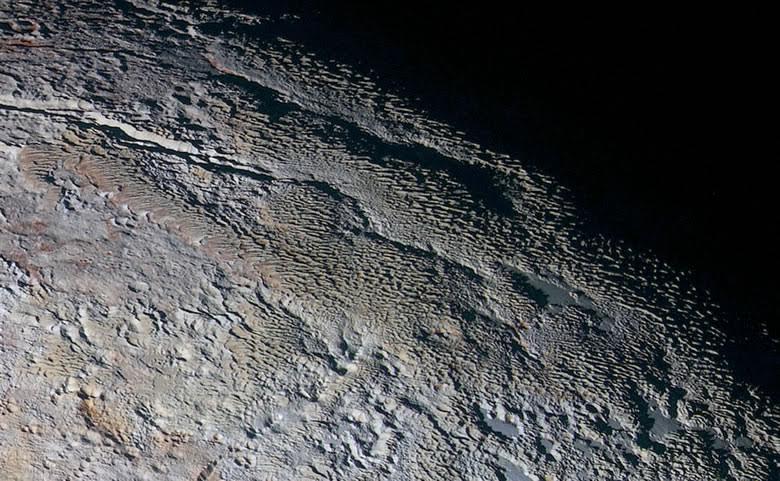 snakeskin topography on Pluto
