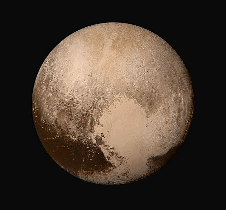 True-color image of Pluto's surface