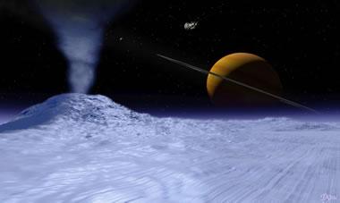 Artist impression - Enceladus geyser