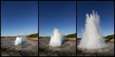 Geyser Strokkur - Iceland erupts