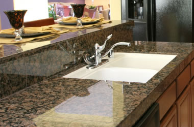 Superior Granite Backsplash. In Addition To Solid Slab Countertops ...