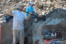 Opening a Herkimer Diamond cavity