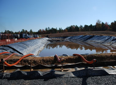 pond used for frac water