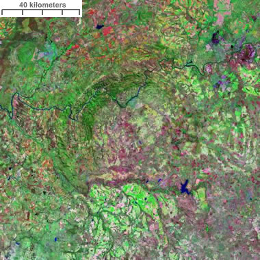 Landsat image of Vredefort Crater