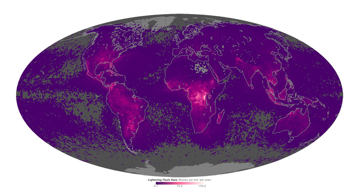 Colorado Lightning Strike Map World Lightning Strikes Map