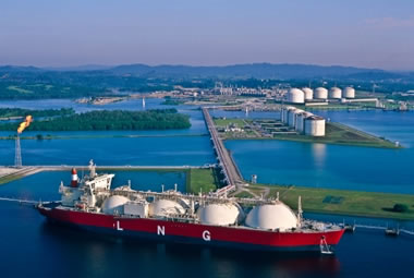 LNG tanker and liquefied natural gas facility