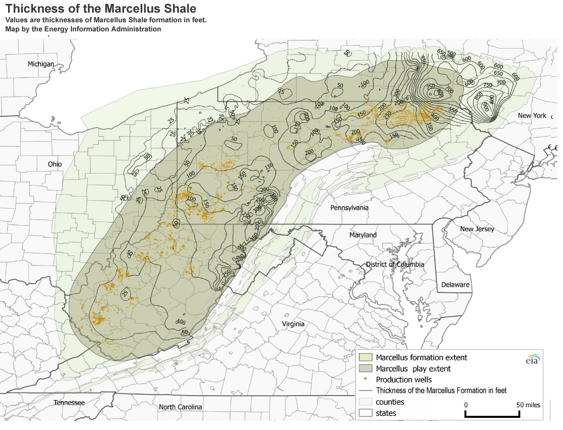 Fracking In Wyoming Map.Marcellus Shale Results Continue To Amaze Geologists