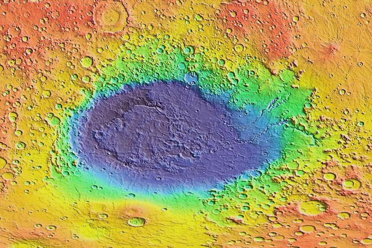 Hellas impact crater