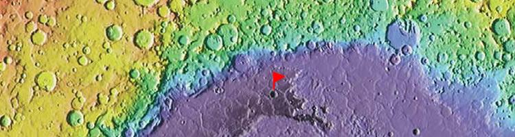 Lowest point on Mars