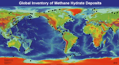 methane hydrate map