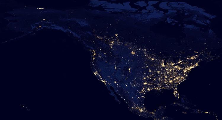 Satellite Map United States
