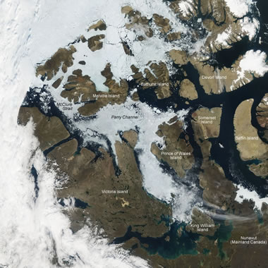 Northwest Passage satellite photo
