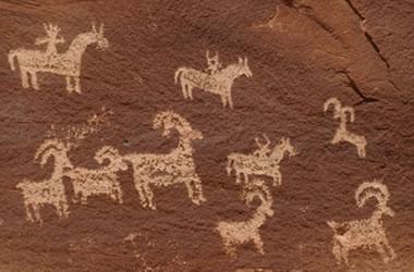 Arches National Park petroglyphs
