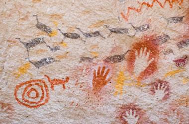 Pictographs at Cueva de las Manos