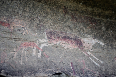 Pictographs near Drakensberg, South Africa