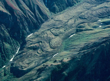 rock glacier flow lobes