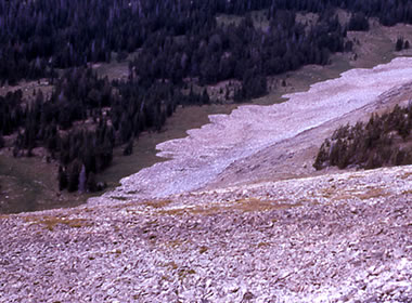 Yellowstone rock glaciers