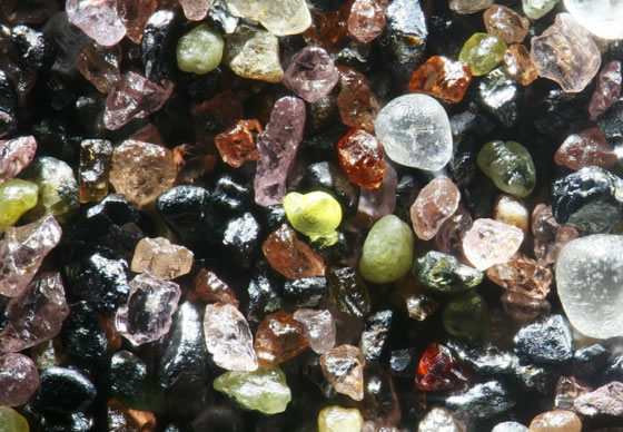 Sand grains at geology.com