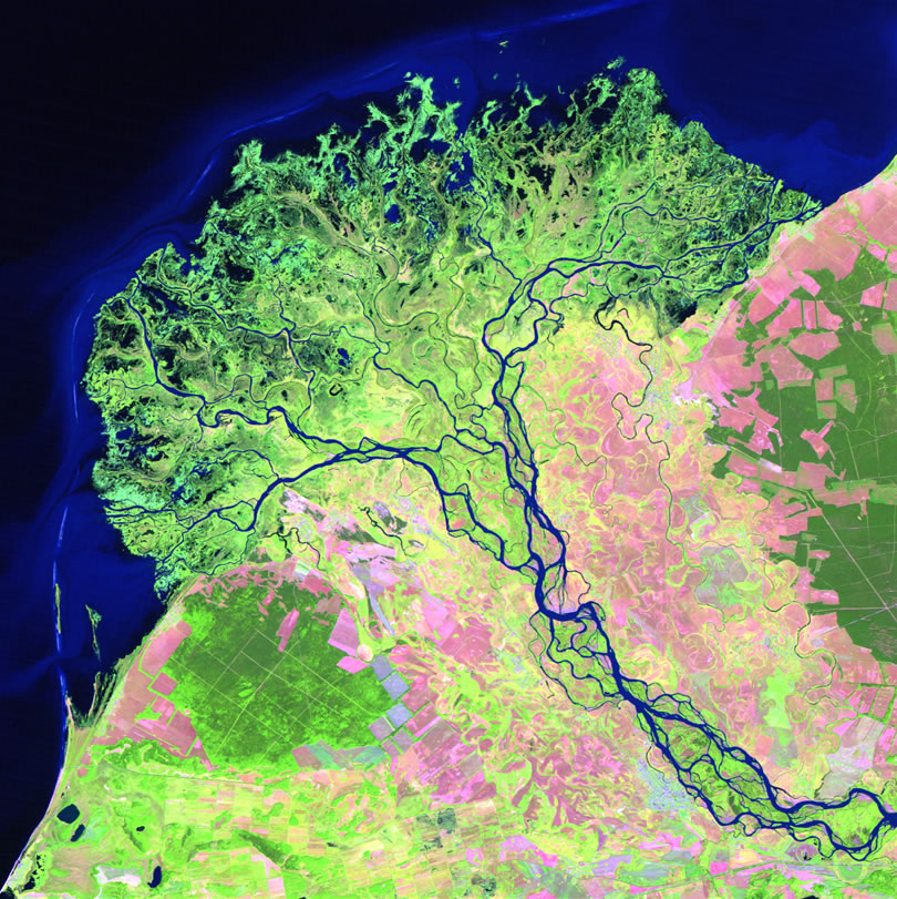 Selenga River and Delta Maps and Satellite Images