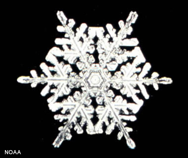 snowflake - hexagonal crystal structure