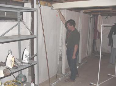 deflected basement wall