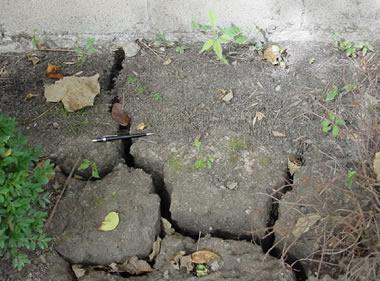 cracks in expansive soil