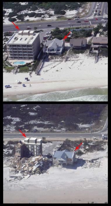storm surge - Orange Beach - Hurricane Ivan