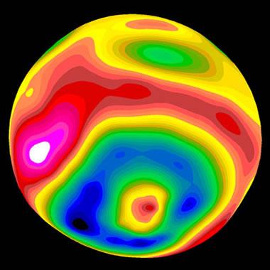 Vesta asteroid topography