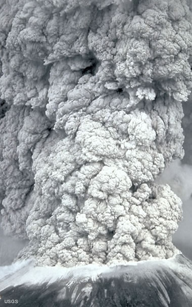 volcanic column