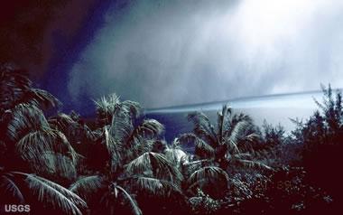 volcanic ashfall darkness