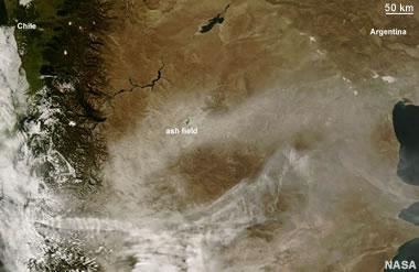 volcanic ash field