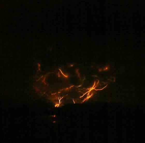 Ash cloud lightning