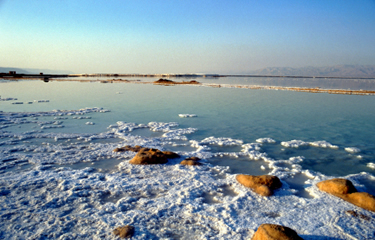 Dead Sea salt deposits